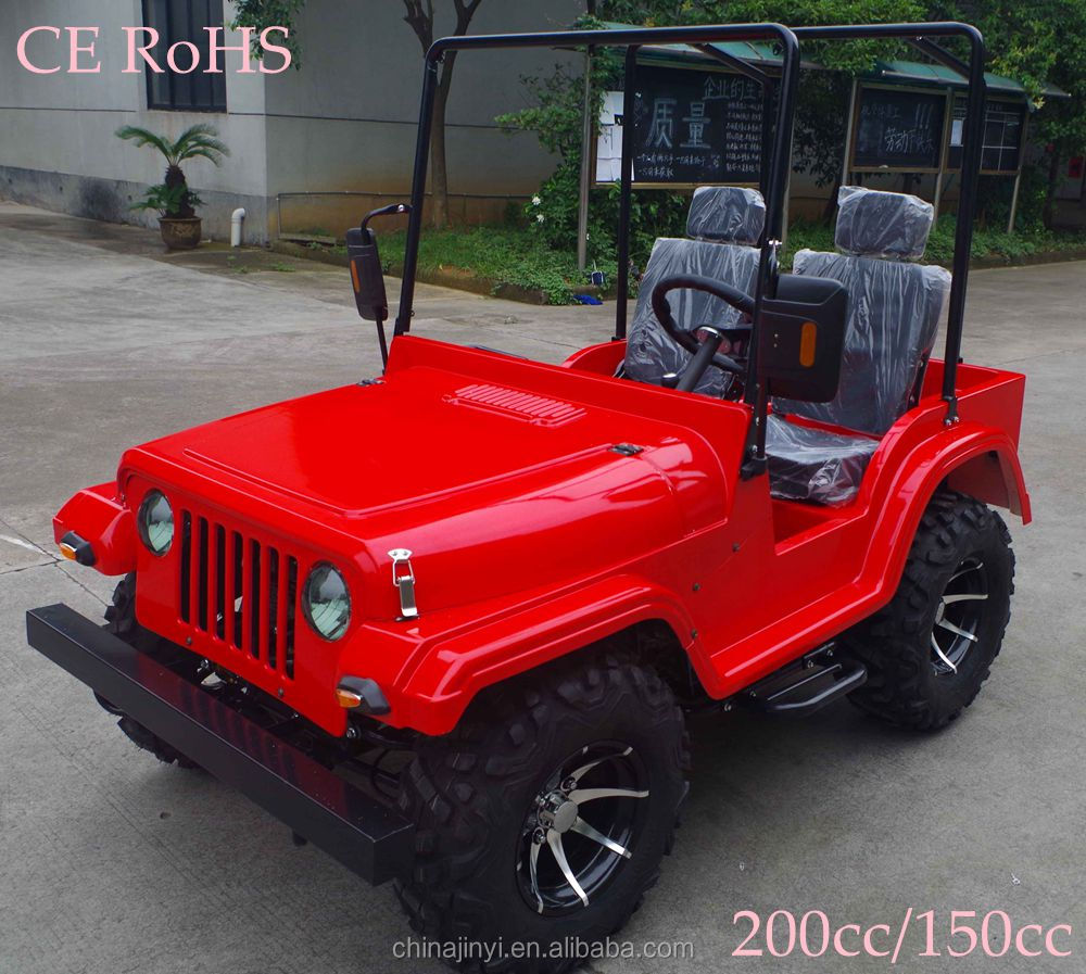 Red 200cc gas mini jeep atv for adult