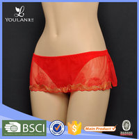 Factory Price Fashion Thongs Lovely Girl Women Nylon Full Brief Girls Wearing Panty
