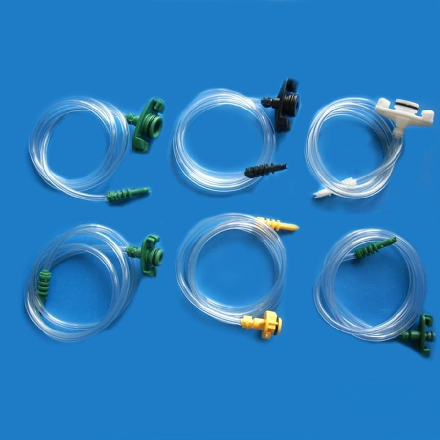US Type Plastic Transparent Air Tubing Glue Dispenser Syringe Adapter