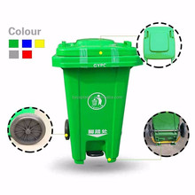 Foot Pedal Outdoor Plastic Garbage Bin with Cover for Sale