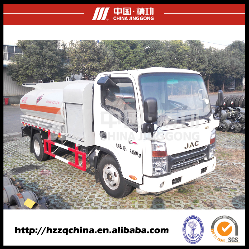 Customized New Type 4 CBM Mini refuel tank truck for oil delivery