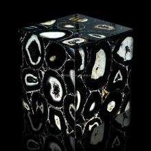 Indoor Decoration Stone Backlit Black Agate Black Gemstone