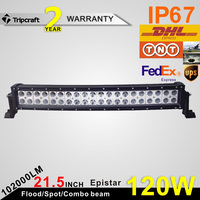 NEW Optics 120W White or Black Curved Epistar OFFROAD LED LIGHT BAR With 8400 Lumen Output