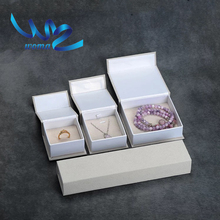 Small squrare jewelry paper bangle gift box bracelets box packaging with knot