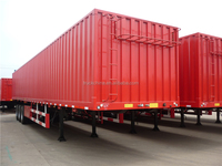 Famous brand Factory Manufacture transport van type box semi trailer for sale
