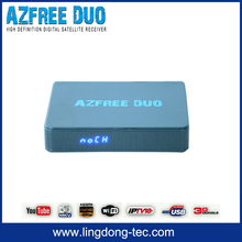 duosat receiver azbox bravoo hd Azfree DUO tocomfree with free iks sks iptv for South America