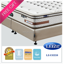Sleeping bed 100% natural latex roll packing spring mattress