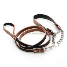 Pet products Durable Leather dog collar and leash