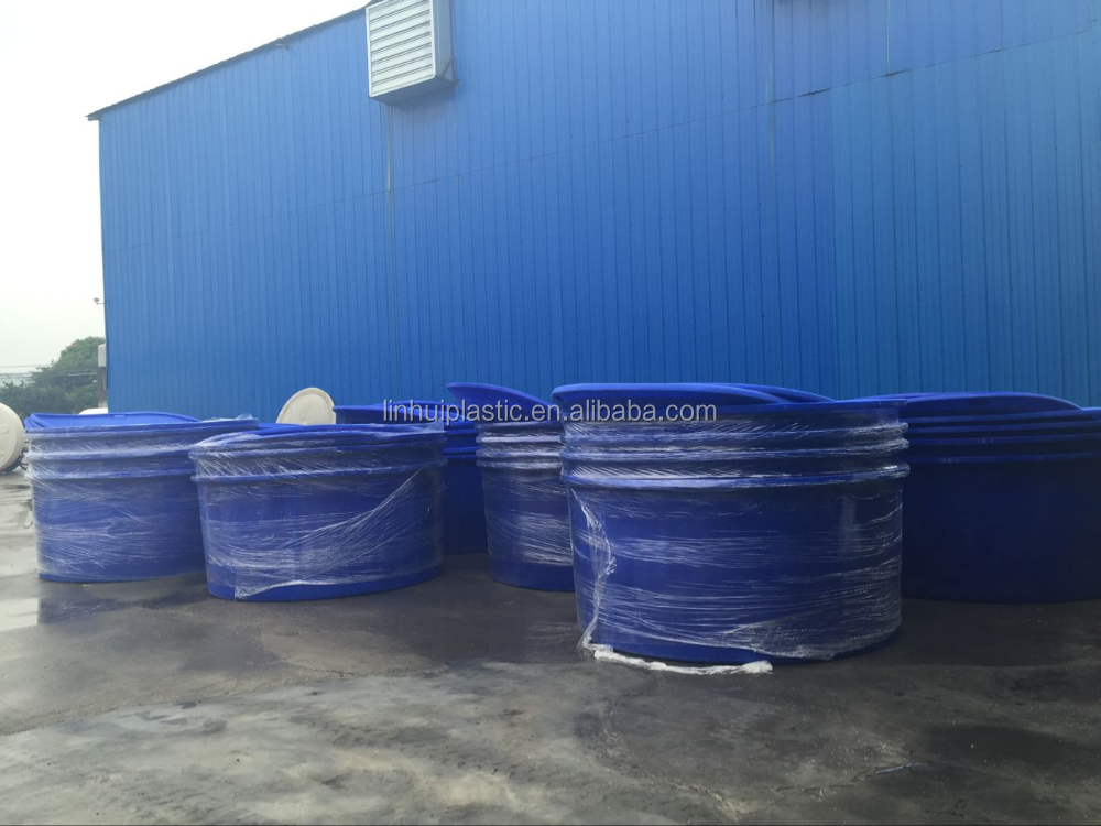 China lldpe reinforced plastic aquaculture round fish for Aquaculture fish tanks