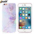 Customized Lavender Marble Style Full Coverage IMD TPU Cover Case for Apple iPhone 6 Plus Phone Case