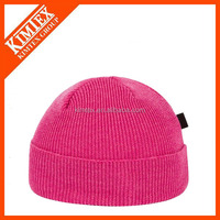 Wholesale oversized fuchsia wool beanie hat
