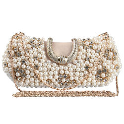 Wholesale fashion brand woman clutch bag lady beaded clutch bag for girls