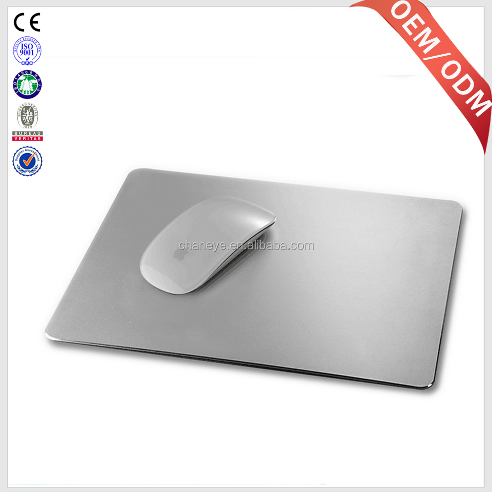 Hot sale gaming mouse pad aluminum alloy metal mousepad for gaming