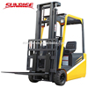 4 wheel electric forklift 1500 kg from lifting height 3m with AC motor battery
