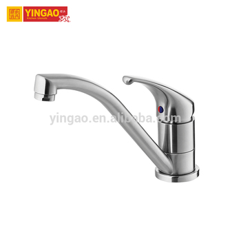 Deck Mounted Single handle stainless steel kitchen faucet