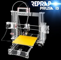 2015 hot sale Fast printing prototyping FDM Prusa I3 3d printer kit one nozzle