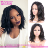 New arrival lace front wig with bun slight wave human hair lace front wig indian remy