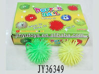 5 inch kids flashing soft fluffy puffer ball toys