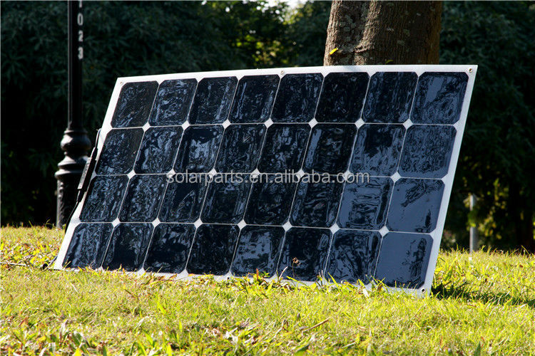 Shenzhen energy 12V 100W Mono lexible Sunpower Solar Panels with outlet