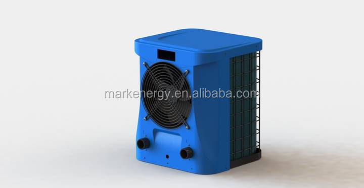 Freestanding poprtable pool heater air to water with R410A refrigerant for small spa/pool