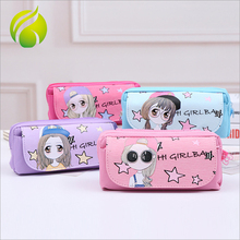 School stationery fashion pen pouch custom cute polyester student pencil bags