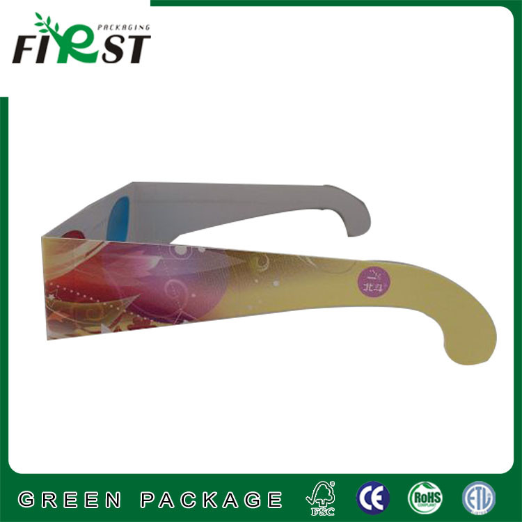 Custom print paper 3d glasses /printed paper 3D glasses with customized logo printing