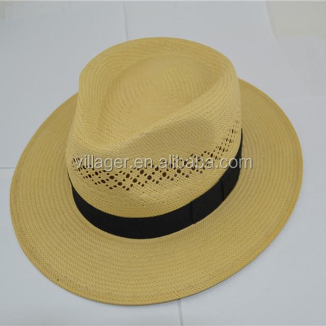 Stylish men's Safris hat Handmade Paper String straw hat Ya hat