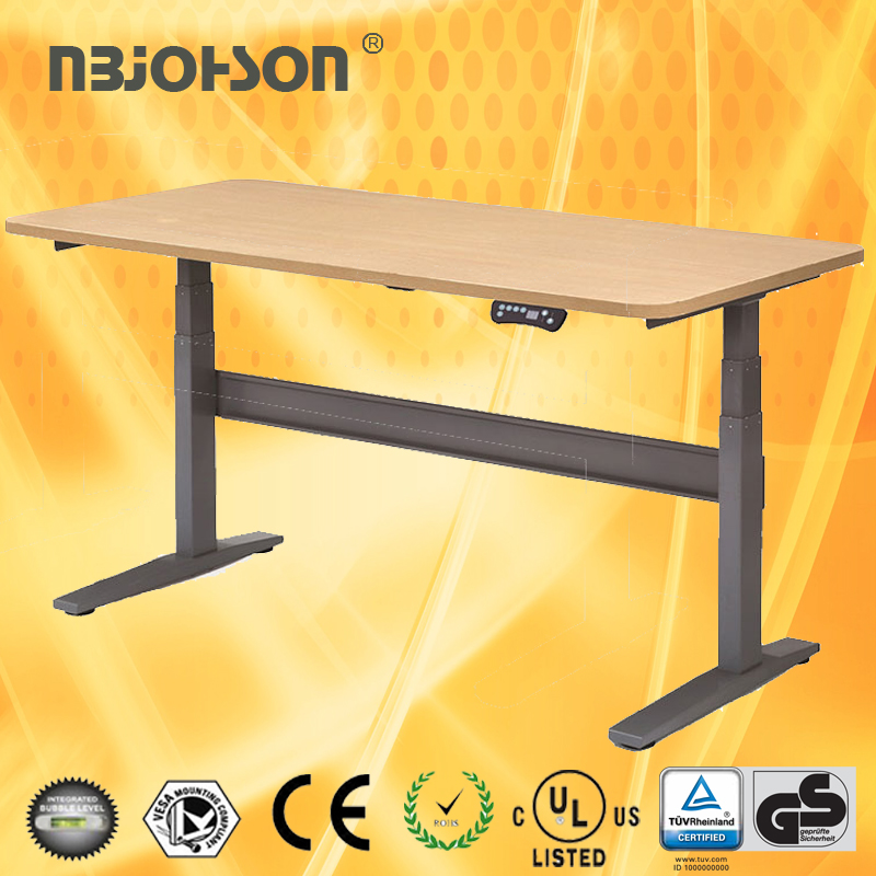 Adjustable height office desk with remote control,adjustable table height computer, lap desk