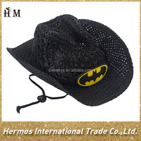 New cute kids promotional outdoor summer cheap superman crochet cowboy hard hat