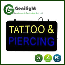 Color Changing 12 V Open LED Neon Light Sign Tattoo & Piercing Letters Sign