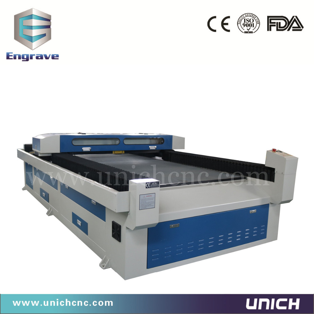 Blue and white color laser engraving machine/wood acrylic laser machine/100 watt laser