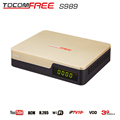 Hd satellite receiver tocomfree s989 with ACN function and iks sks free for 58w 53w star one c2 in South America