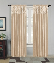 Fancy faux silk ready made curtain in american style