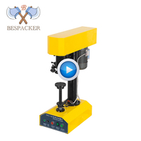 Bespacker TDJ-160 semi automatic tinplate capping machine tin bear soda aluminum can sealing machine