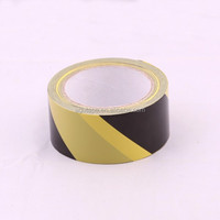 Wholesale High quality Black and Yellow pvc warning tape