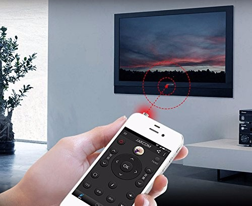 3.5mm Mobile Phone IR Smart Light-Sensitive TV Remote Controller for IOS Android Devices