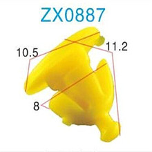 ZX automotive fasteners plastic car door retainers plastic push type retainer