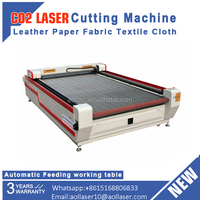 auto feeding textile laser fabric layer cutting machine for garment