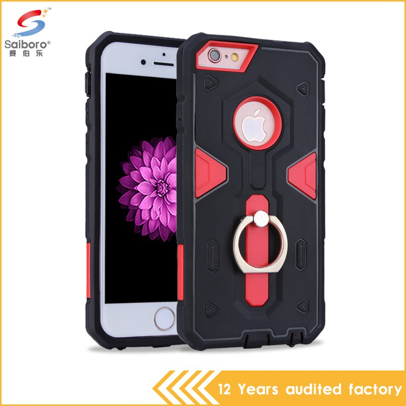 Newest design tpu with pc perfect combination for iphone 6 back cover