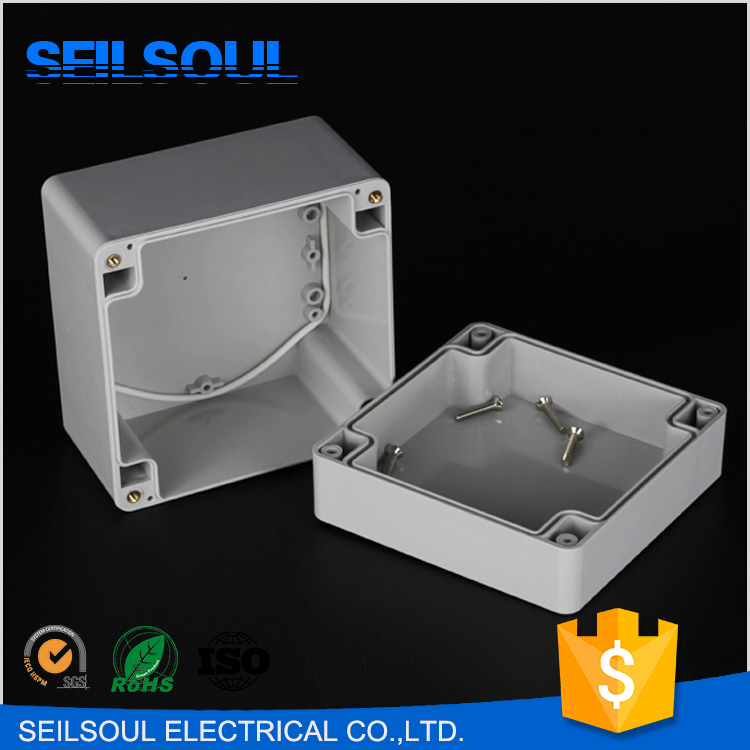 Square Lid 120x120x90mm Size Cabinet, ABS/PC Plastic Outdoor Junction Box