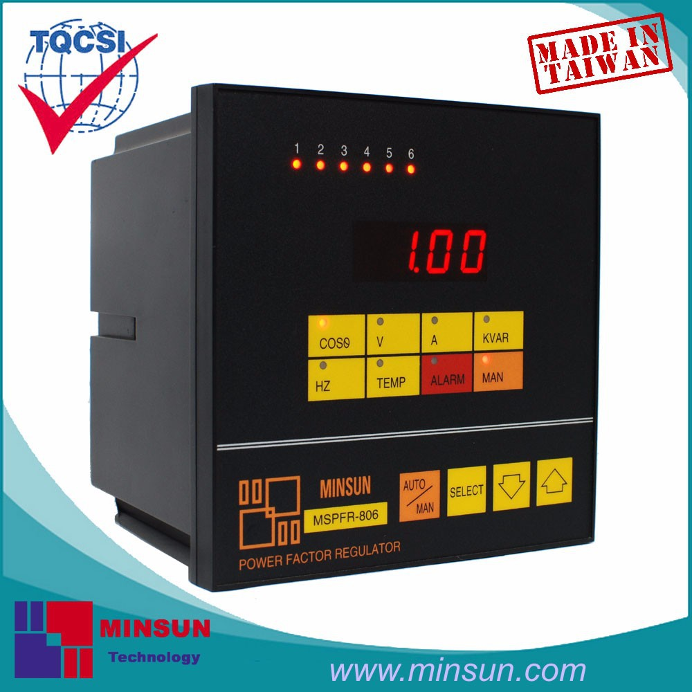 MSPFR-806M Intelligent Multifunctional PF Controller with Modbus interface KVAR Alarm Function