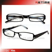 2012 Men's stainless steel optical eyewear frames with crystals (S-679)