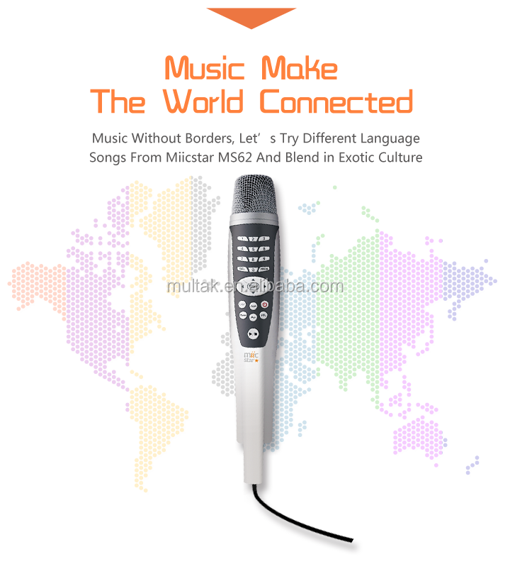 Portable karaoke player system all in one karaoke handyoke with the songs inside the SD card