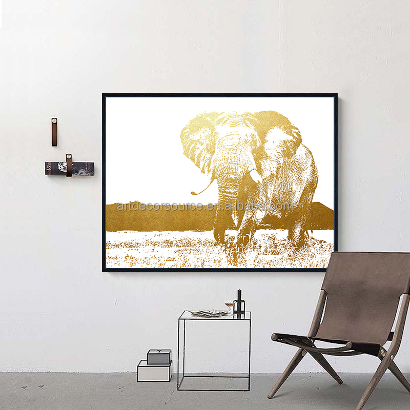 Wall decor gold foil art print