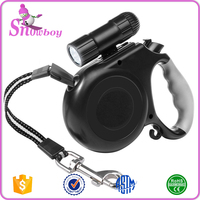 Automatic Retractable Dog Leash with Detachable Flashlight LED Torch Light