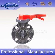 from china valves factory price plastic pvc butterfly valves handles color customized