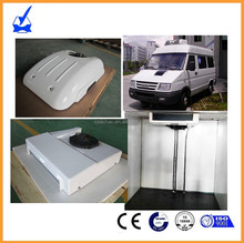 Battery driven 12V roof top mounted electric mini van refrigeration units for cargo van