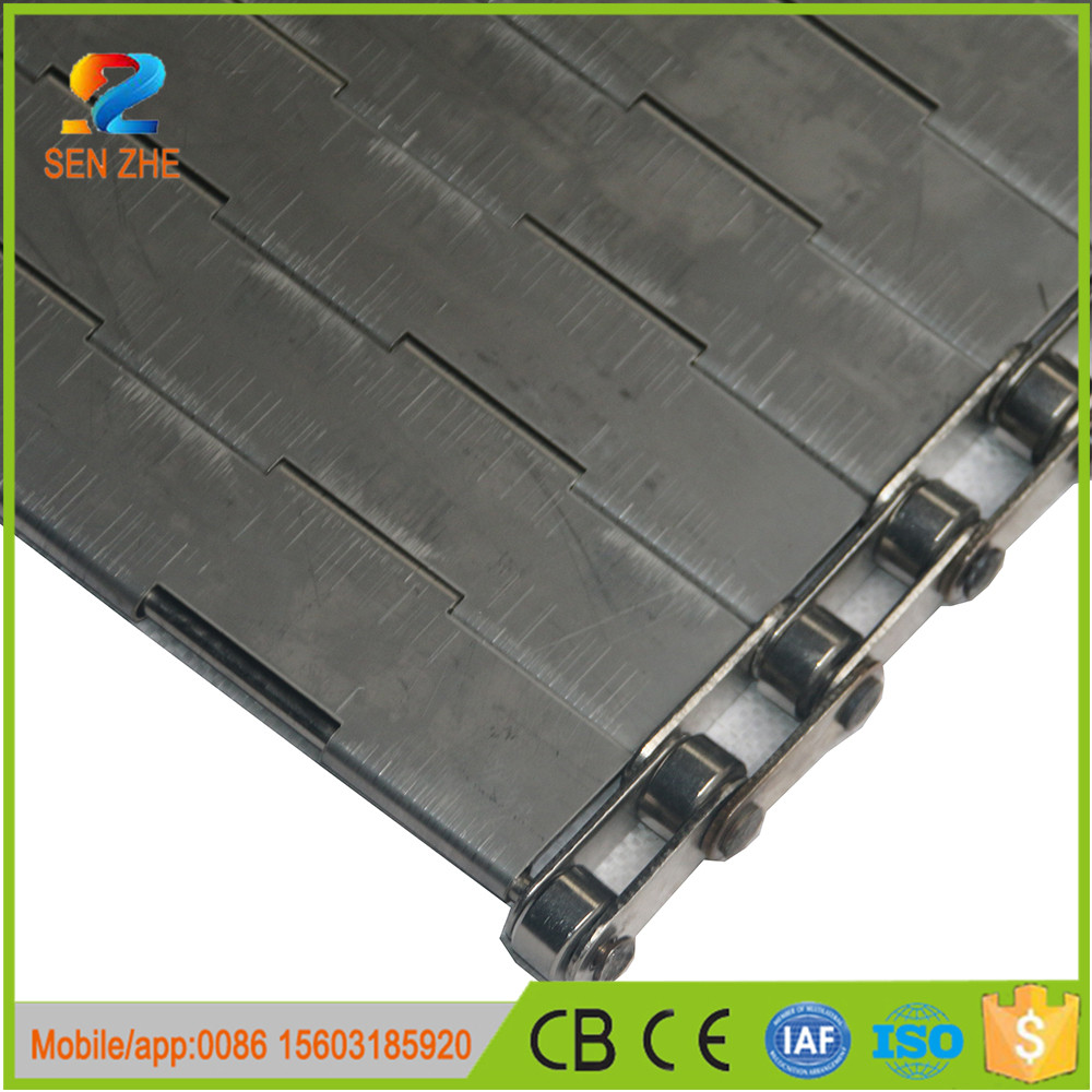 heavy duty steel slat link metal slat conveyor belt