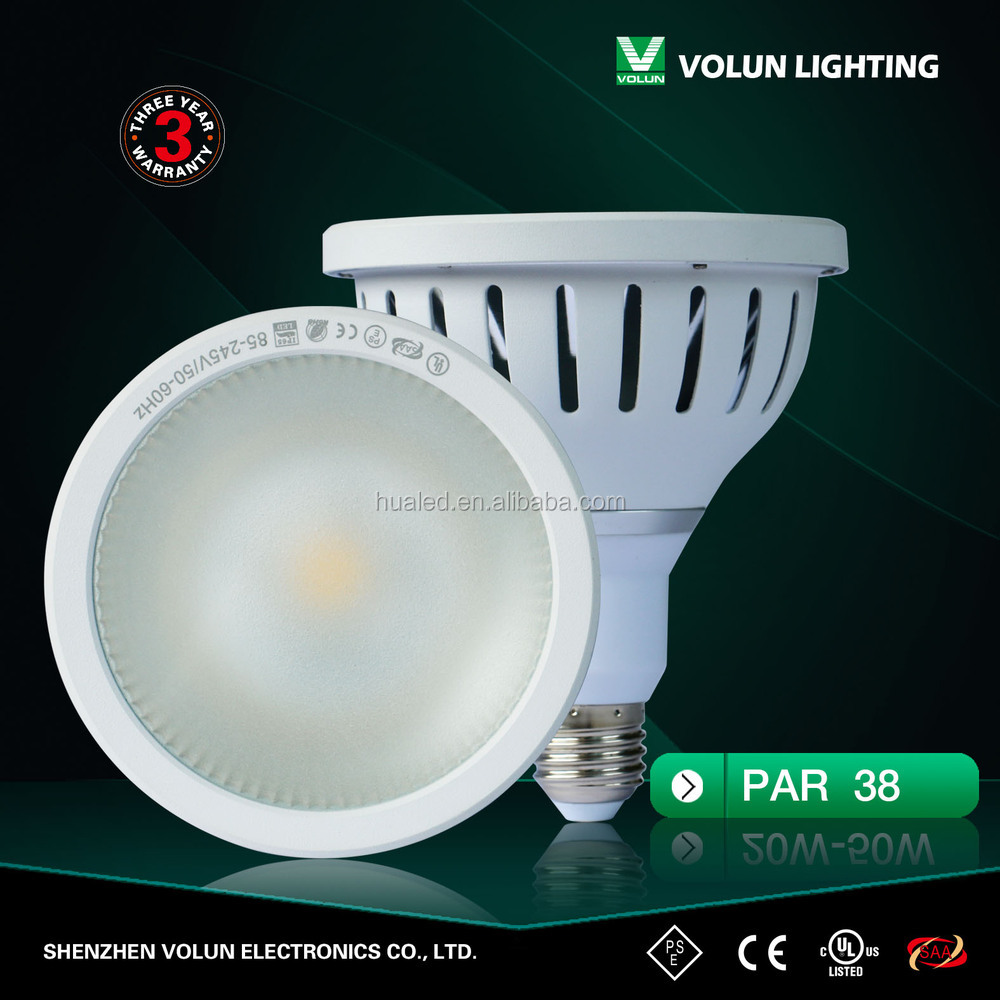 18W COB PAR38 Ip65 AC85-265V with ce saa rohs approved,led par 64 rgb dmx stage lighting