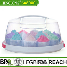 Heng long hot sale new bakery cake carrier plastic cake box with cover in many style